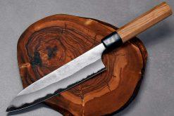 """סכין שף (גיוטו) הירושי קאטו 180מ""""מ Aogami Super"""