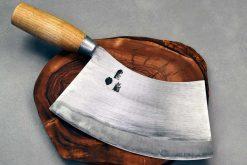 """סכין בשר מעוקל האו ג'יינג 200מ""""מ 1095"""