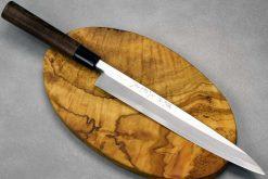 """סכין סושי (יאנאגיבה) סאטאקה 240מ""""מ Aogami#2"""