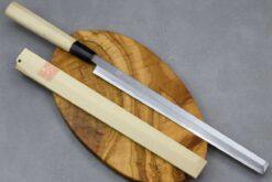 """סכין סושי (טאקוהיקי מארו) יאמאוואקי 270מ""""מ Shirogami#"""