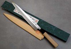"""סכין סושי (יאנאגיבה) יאמאוואקי 270מ""""מ Shirogami#2 יד שמאל"""