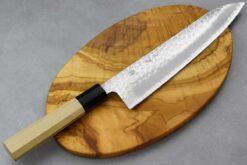 """סכין שף (גיוטו) טוסה 210מ""""מ Aogami Super כסוף"""