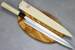"""סכין סושי (יאנאגיבה) יאמאוואקי 300מ""""מ Shirogami#2"""
