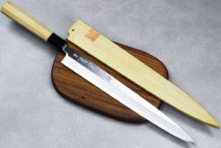 """סכין סושי (יאנאגיבה) יאמאוואקי 300מ""""מ Aogami#2"""