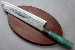 """סכין שף (קיריצוקא) יושידה 240מ""""מ ZDP-189 טורקיז"""