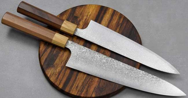 סכיני שף יפניים מבית קיי קובאיאשי | סדרת SG2 MH דמשק