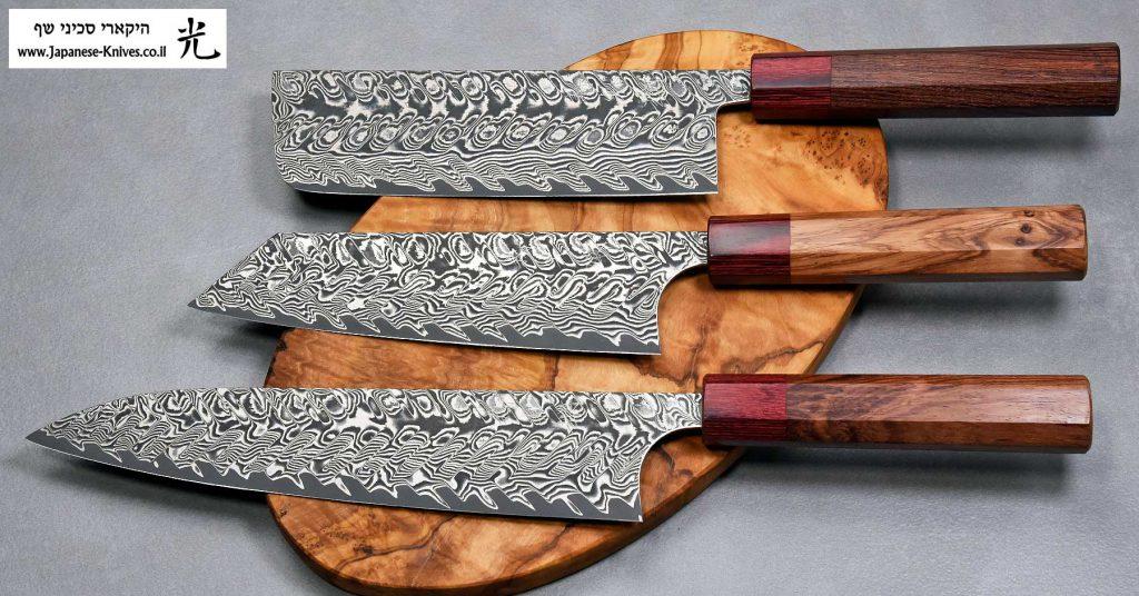 סכיני שף מבית הירושי קאטו - סדרת דמשק שחור Ad 1:1.91