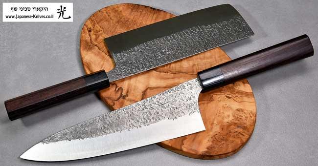 סכיני שף בעבודת יד של אוגטה שונגו Glass Cat Blk