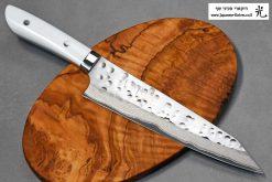"""סכין שף (קיריצ'וקא) סאג'י 210מ""""מ SRS13 דמשק"""