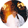 מאסטר שירו קאמו מחשל סכין שף