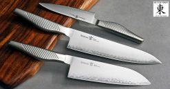 סט סכיני שף קיו - שלושה סכינים