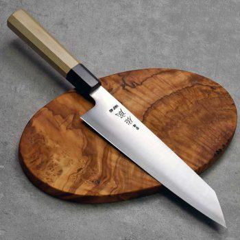 """סכין שף (קיריצ'וקא) סוקנארי 210מ""""מ HAP40 חלק FB ad 1:1"""
