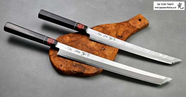 סכיני סושי | סכיני סשימי בעבודת יד של קאזויוקי