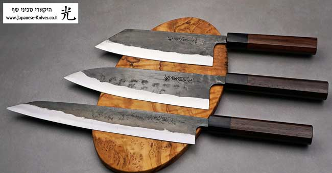 סכיני שף בעבודת יד של טאנאקה קצ'וטו - סדרת Shirogami#1