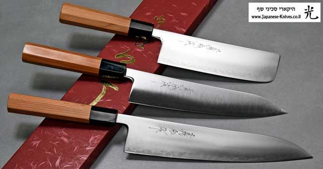 סכיני שף מבית יאמאוואקי - פלדת Aogami Super