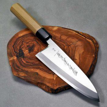 """סכין פילוט דגים (דבה) יאמאוואקי 180מ""""מ Aogami#2 FB ad 1:1"""