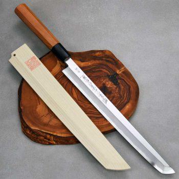 """סכין סושי (טאקוהיקי מארו) יאמאוואקי 270מ""""מ Aogami#1 Ad 1:1"""