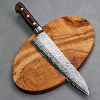"""סכין שף (גיוטו) יאמאוואקי 210מ""""מ VG10 ידית מערבית"""