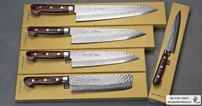 יאמאוואקי סכיני שף סדרת VG10 Cat Blk Brighter