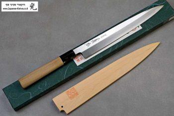 """סכין סושי (יאנאגיבה) יאמאוואקי 240מ""""מ Shirogami#2"""