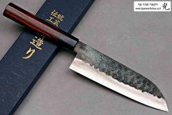 """סכין שף (סנטוקו) יושידה 165מ""""מ ZDP-189 שחור"""