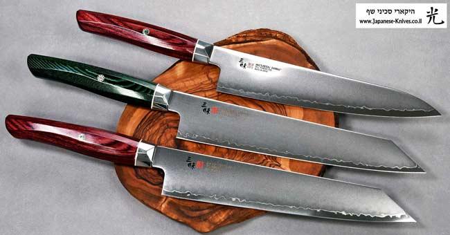 סכיני שף יפניים מבית זאנמאי מסדרת SG2